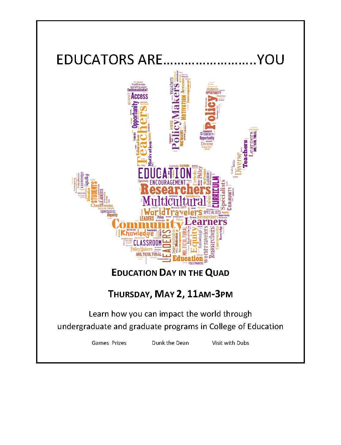 Education Day in the Quad | Undergrad News and Announcements