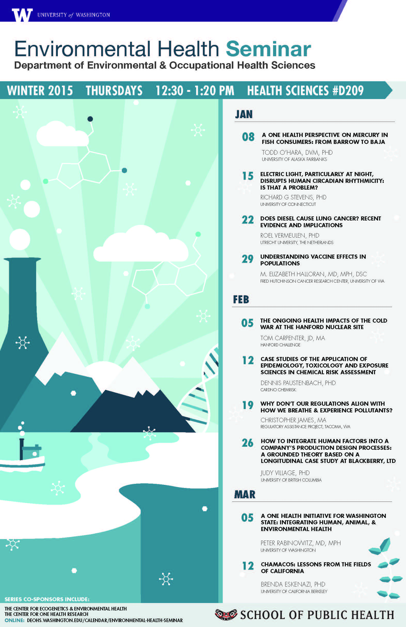 Environmental Health Seminars Winter 2015 | Undergrad News and ...