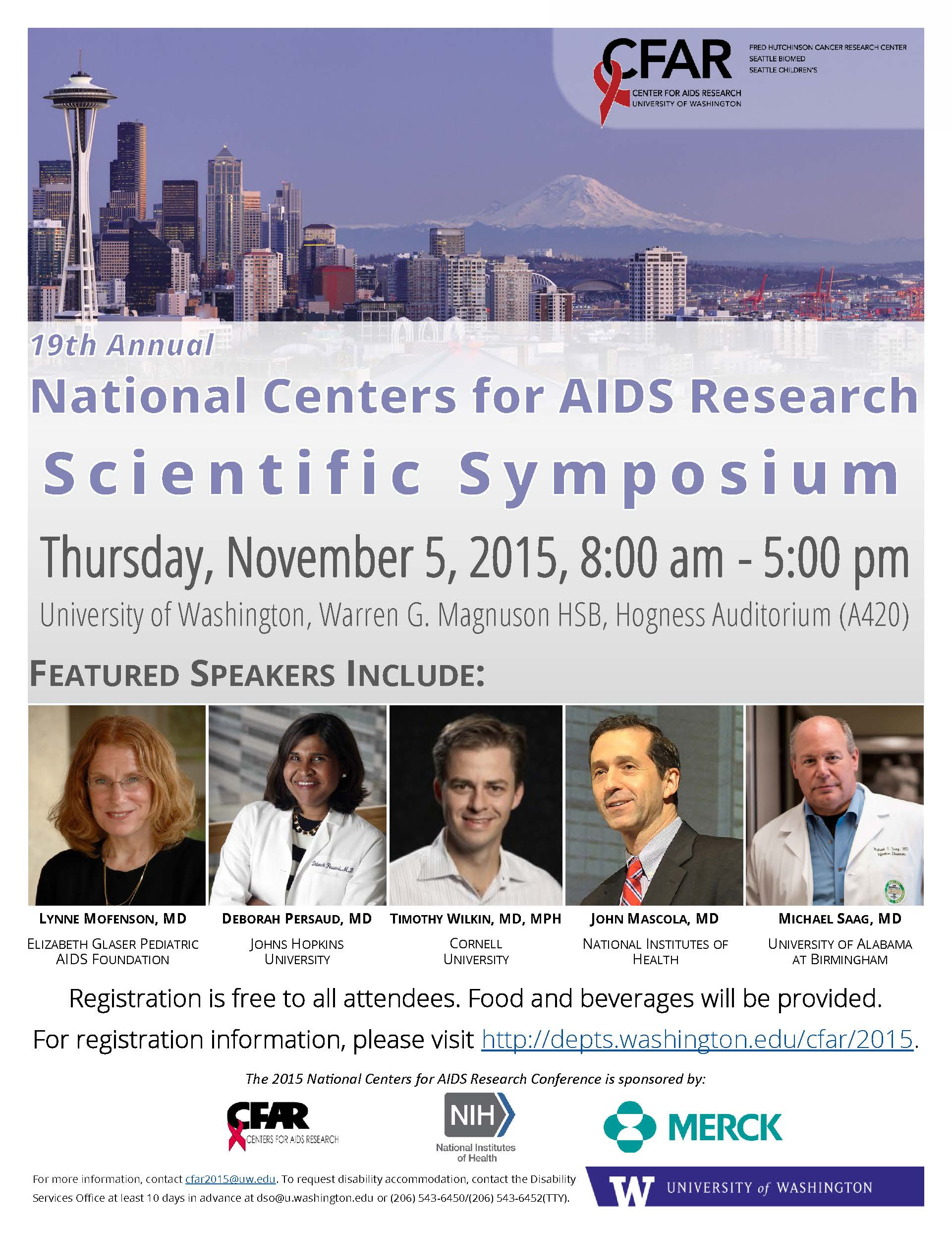 Invitation to Attend the 2015 CFAR Scientific Symposium Undergrad