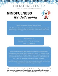 Mindfulness Drop-In Flyer 2017