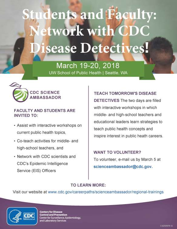 Volunteer with the CDC Science Ambassador Program_UW 2018