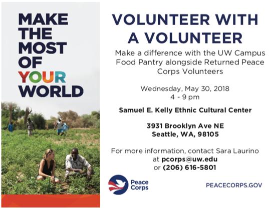 UW Pantry Peace Corps Event