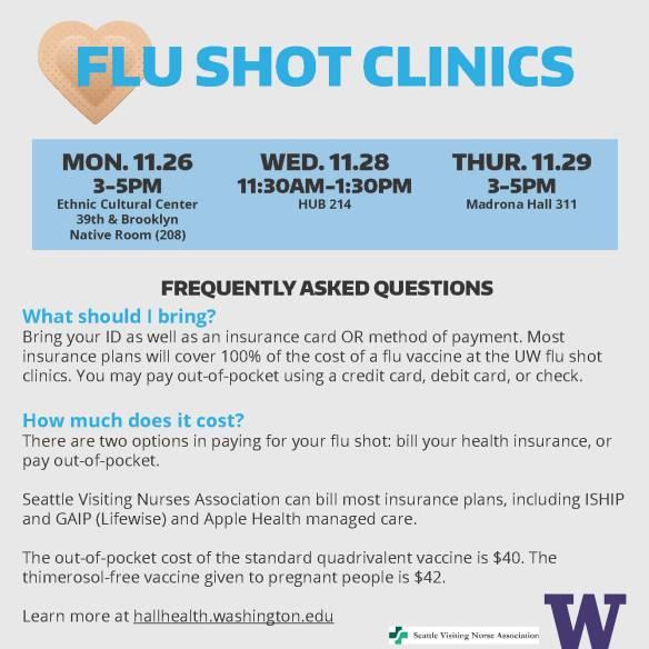 flu shot clinics - email